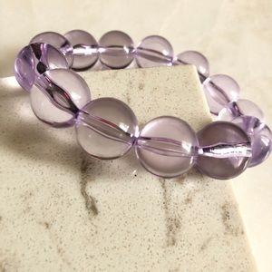 Chunky Clear Purple Bracelet ☮️